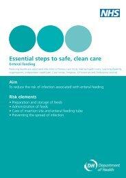 Essential steps to safe, clean care - Enteral feeding - NHS Kirklees
