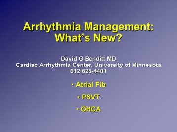 Arrhythmia - University of Minnesota Continuing Medical Education