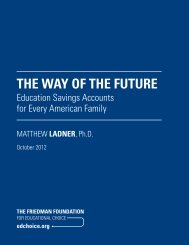 The Way of the Future: Education Savings Accounts for Every Family