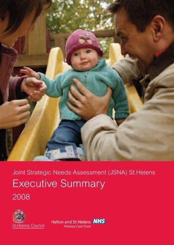 Executive Summary - Halton and St Helens PCT