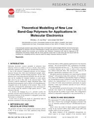 RESEARCH ARTICLE Theoretical Modelling of New Low Band-Gap ...