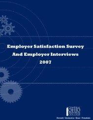 Employer Satisfaction Survey And Employer Interviews 2007