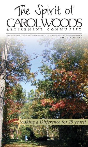 Spirit (Fall 2006) - Carol Woods Retirement Community