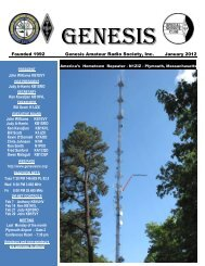 Genesis Amateur Radio Society, Inc. January 2012
