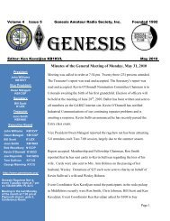 Minutes of the General Meeting of Monday, May 31, 2010 - Genesis ...