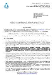 norme comuni per i campionati regionali - Le Marche del Volley