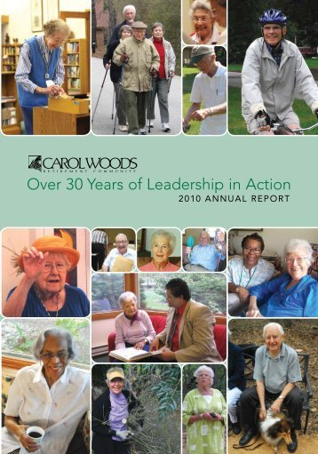 2010 Annual Report - Carol Woods Retirement Community