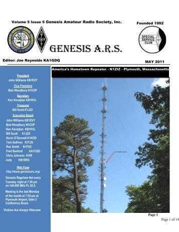 Volume 5 Issue 3 Genesis Amateur Radio Society, Inc