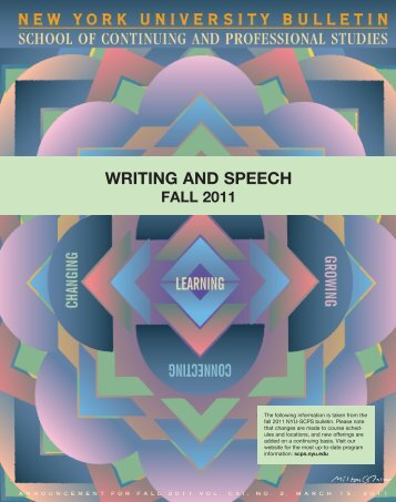 writing and speech - School of Continuing and Professional Studies ...