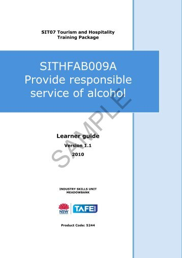 how to get responsible service of alcohol rsa
