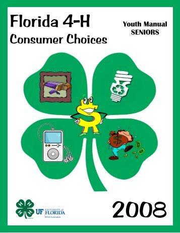 Consumer Choices (2008) - Senior - Sarasota County Extension ...