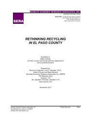 RETHINKING RECYCLING IN EL PASO COUNTY