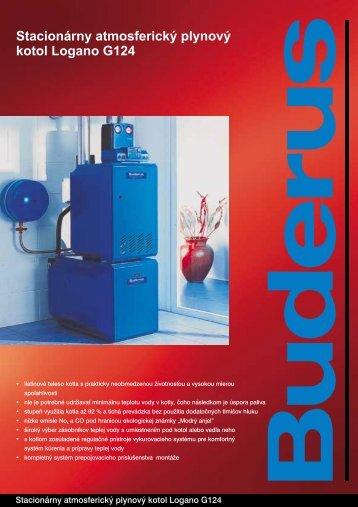 Stacionárny atmosferický plynový kotol Logano G124 - Buderus