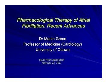 Pharmacological Therapy of Atrial Fibrillation - Sha-conferences.com