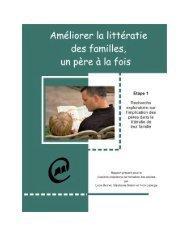 Améliorer la littératie des familles, un père à la fois - Base de ...