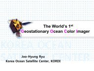 Ocean color images transmitted by the satellite - POGO