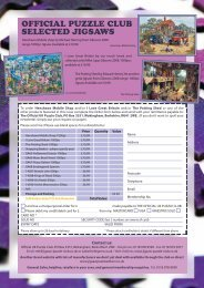 OFFICIAL PUZZLE CLUB SELECTED JIGSAWS - Jigsaw Puzzles