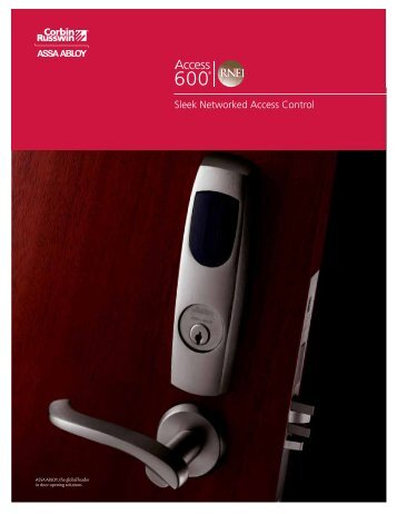 CORBIN RUSSWIN Access 600 RNE1 Catalog - Access Control ...