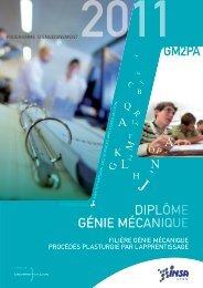 la brochure pédagogique apprentissage GMPP - INSA de Lyon