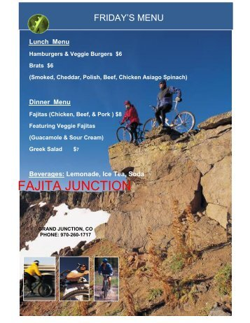 Fajita Junction Menu - Granny Gear Productions