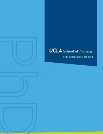 PhD GuiDelines 2013-2014 - UCLA School of Nursing