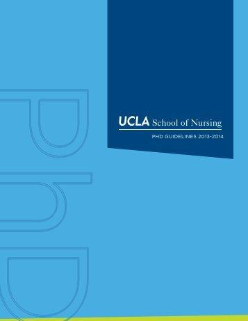 PhD GuiDelines 2013-2014 - UCLA School of Nursing