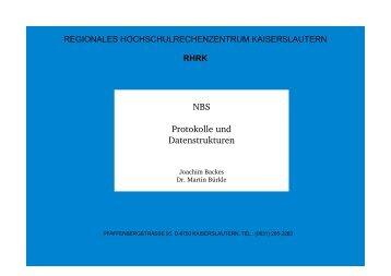 NBS Protokolle und Datenstrukturen