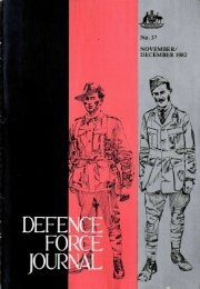 ISSUE 37 : Nov/Dec - 1982 - Australian Defence Force Journal