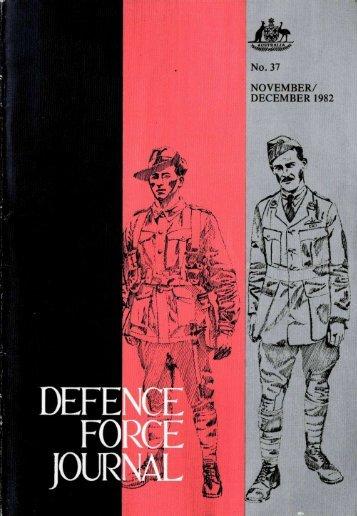 ISSUE 37 : Nov/Dec - 1982 - Australian Defence Force Journal