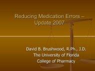 ECKERD PHARMACY RISK MANAGEMENT PROGRAM Pharmacy ...
