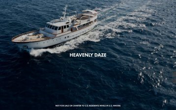 M/Y Heavenly Daze - Paradise Yacht Charters