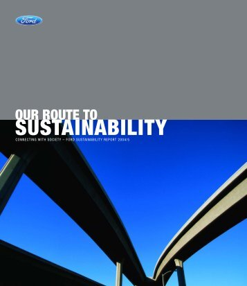 2004/05 Sustainability Report - Ford Motor Company