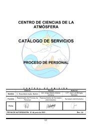 Personal - Centro de Ciencias de la Atmósfera - UNAM