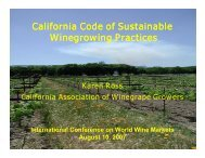 California Code of Sustainable Winegrowing Practices - Conference ...