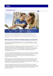 Mit Innovationen und Know-how Marken pflegen und ... - Beiersdorf