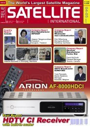 HDTV CI Receiver - TELE-satellite International Magazine