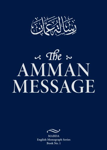 AmmAn messAge - The Royal Islamic Strategic Studies Centre