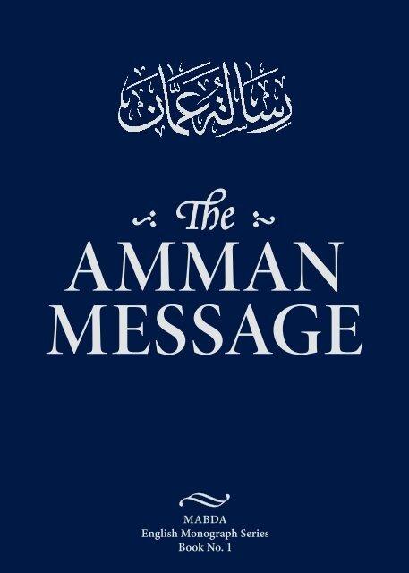 AmmAn messAge - The Royal Islamic Strategic Studies Centre