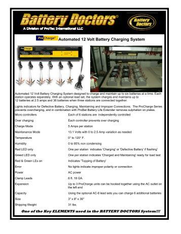 Automated 12 Volt Battery Charging System - WAKWAK