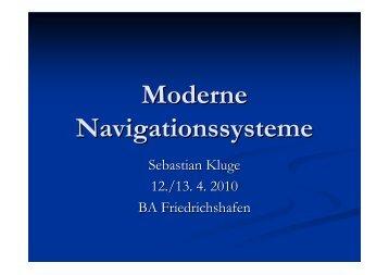 Moderne Navigationssysteme