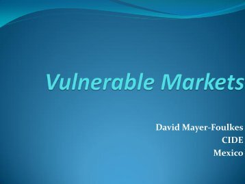 Vulnerable Markets
