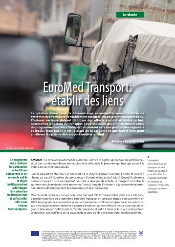 EuroMedTransport: établir des liens - EU Neighbourhood Info Centre