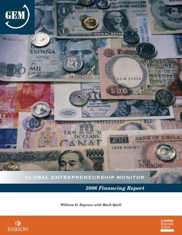 GEM 2006 Financing Report - Babson College