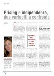 Pricing e indipendenza, due variabili a confronto Il panorama degli ...