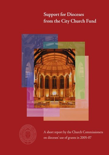 Support for Dioceses from the City Church Fund - Church of England