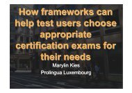 How frameworks can help test users choose appropriate ... - ALTE
