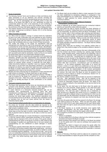 terms & conditions (pdf, 37kb) - gesa form + funktion