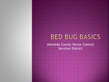 Bed bug basics - Vector Control Services - Alameda County