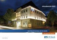 Jahresbericht 2012 - VR-Bank Bad Hersfeld-Rotenburg eG