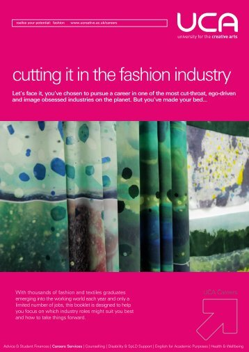 cutting it in the fashion industry - UCA Community